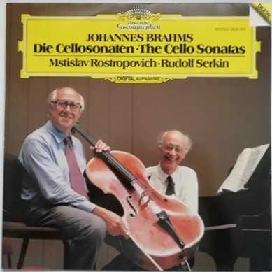 2532 073 Brahms THE CELLO SONATAS Vinyl LP Rostropovich Serkin