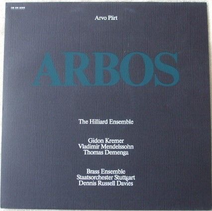 Arvo Part ARBOS Vinyl LP Hilliard Ensemble