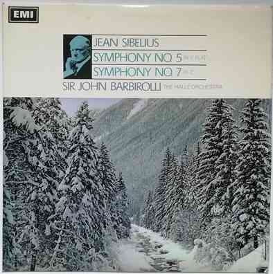 ASD 2326 Sibelius SYMPHONY NO 5 and NO 7 Vinyl LP Semi Circle