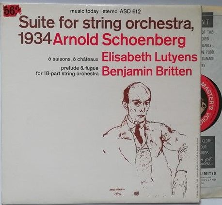 ASD 612 Arnold Schoenberg SUITE FOR STRING ORCHESTRA, 1934 Vinyl LP Red Semi