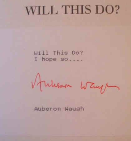 Will This Do? by Waugh Auberon Paperback The First Fifty Years of Auberon W..
