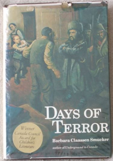 Barbara Claassen Smucker DAYS OF TERROR First Edition Signed
