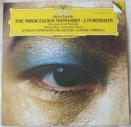 Bartok THE MIRACULOUS MANDARIN TWO PORTRAITS Vinyl LP Mintz Abbado