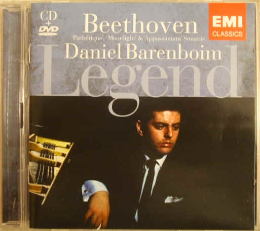 Beethoven PIANO SONATAS AND FANTASY Daniel Barenboim CD DVD