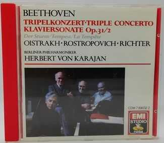 Beethoven TRIPLE CONCERTO Classical CD Oistrakh Rostropovich Richter No IFPI