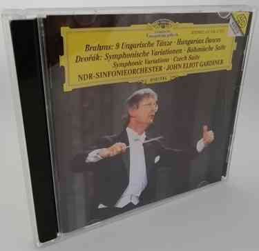 Brahms: 9 HUNGARIAN DANCES Dvorak SYMPHONIC VARIATIONS Classical CD Gardiner