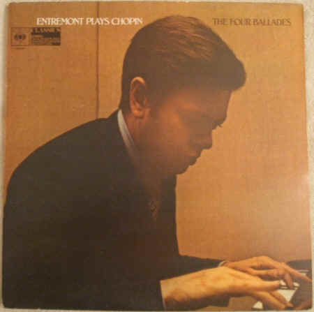 CBS 61210 Entremont PLAYS CHOPIN Vinyl LP