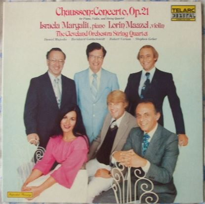 Chausson CONCERTO FOR PIANO VIOLIN AND STRING QUARTET Vinyl LP Maazel Margalit