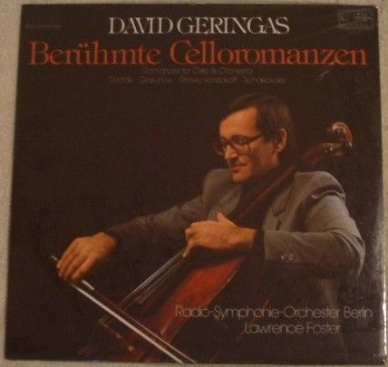 David Geringas ROMANCES FOR CELLO AND ORCHESTRA Vinyl LP Sealed