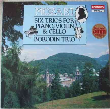 DBRD 2008 Mozart SIX TRIOS FOR PIANO VIOLIN AND CELLO Double Vinyl LP Borodin Trio
