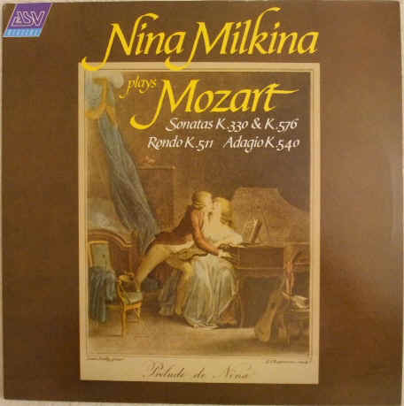 DCA 648 Nina Malkina PLAYS MOZART Vinyl LP