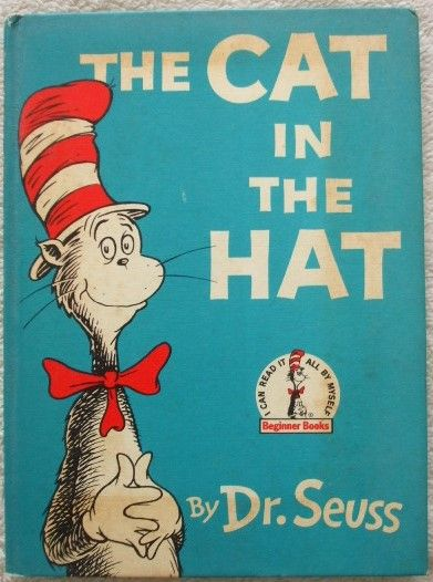 Dr Seuss THE CAT IN THE HAT First Book Club Edition 1957