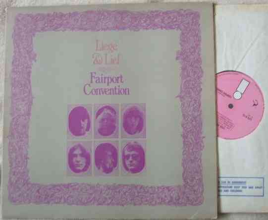 Fairport Convention LIEGE AND LIEF Vinyl LP Pink Label