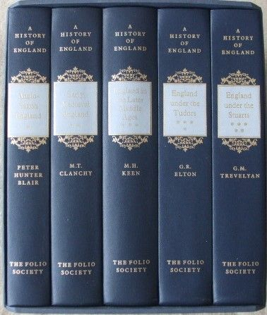 Folio Society A HISTORY OF ENGLAND Five Volume Slipcased Set