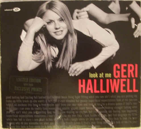 Geri Halliwell Look At Me Enhanced CD Single & Photos