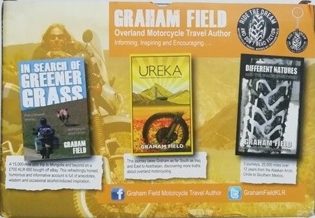 Graham Field OVERLAND MOTORCYCLE TRAVEL Box Set of Three Signed Paperbacks