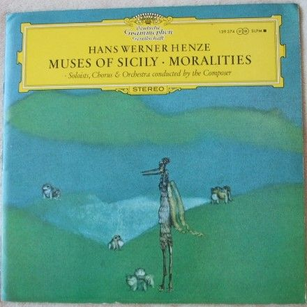 Henze MUSES OF SICILY MORALITIES Vinyl LP