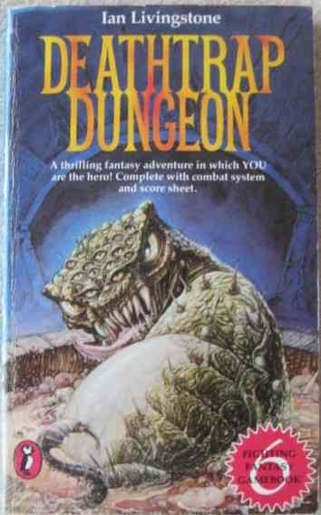 Ian Livingstone DEATHTRAP DUNGEON Signed Paperback