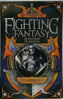 Ian Livingstone DEATHTRAP DUNGEON Signed Paperback 2009