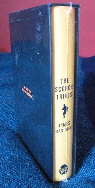 James Dashner THE SCORCH TRIALS Signed Slipcased Limited Edition Sealed