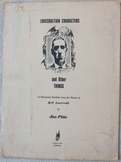 Jim Pitts LOVECRAFTIAN CHARACTERS AND OTHER THINGS Signed Portfolio
