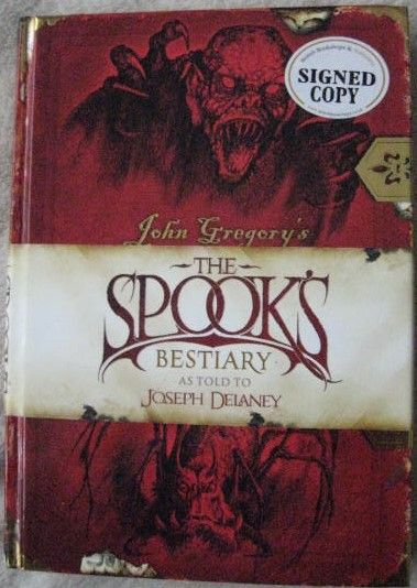 Joseph Delaney THE SPOOK'S BESTIARY First Edition Signed