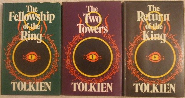 JRR Tolkien THREE VOLUME SET OF LORD OF THE RINGS Second Edition Hardbacks