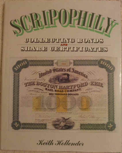 Keith Hollender SCRIPOPHILY Signed First Edition