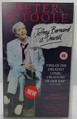 Keith Waterhouse JEFFREY BERNARD IS UNWELL VHS Video Peter O'Toole