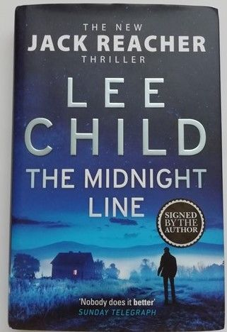 Lee Child THE MIDNIGHT LINE First Edition Signed