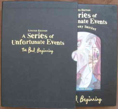 Lemony Snicket THE BAD BEGINNING Signed Slipcased Limited Edition