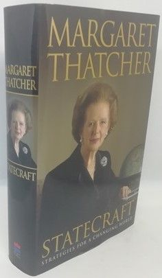 Margaret Thatcher STATECRAFT First Edition Signed