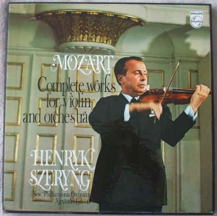 Mozart COMPLETE WORKS FOR VIOLIN AND ORCHESTRA Box Set Szeryng