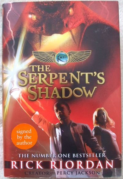 Rick Riordan THE SERPENT'S SHADOW First Edition Signed