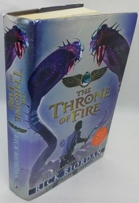 Rick Riordan THE THRONE OF FIRE First Edition Signed
