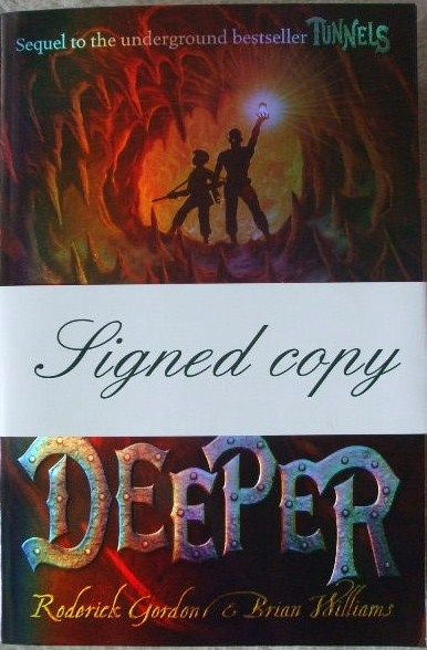 Roderick Gordon Brian Williams DEEPER First Edition Double Signed Lined Doodled