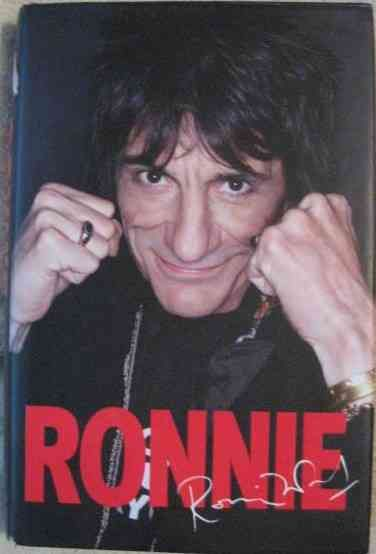 Ronnie Wood RONNIE THE AUTOBIOGRAPHY Signed Hardback