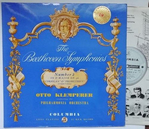 SAX 2331 Beethoven SYMPHONY NO 2 Vinyl LP ED1 Klemperer Superb Copy