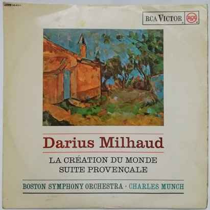 SB 6511 Milhaud LA CREATION DU MONDE Vinyl LP Munch