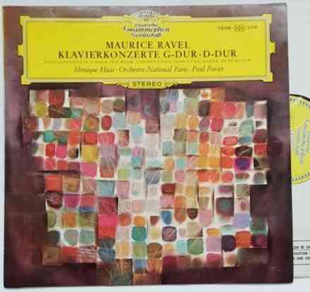 SLPM 138 988 Ravel PIANO CONCERTOS Vinyl LP Haas Paray