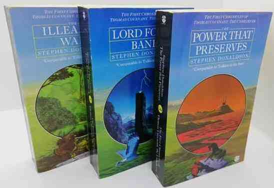 Stephen Donaldson THE FIRST CHRONICLES OF THOMAS COVENANT Paperback Set
