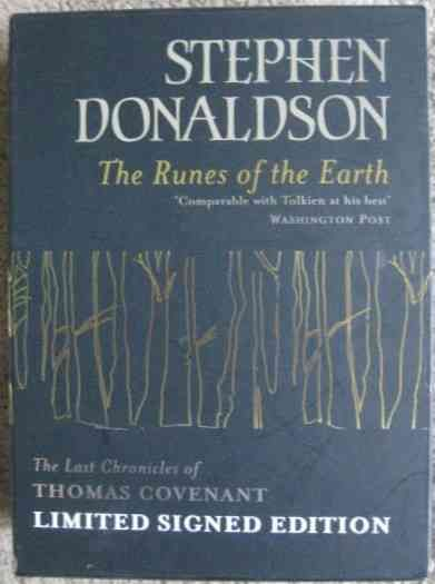 Stephen Donaldson THE RUNES OF THE EARTH Signed Slipcased Limited Edition