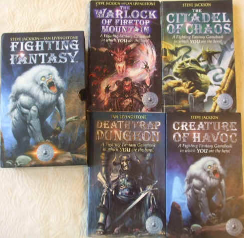 Steve Jackson Ian Livingstone FIGHTING FANTASY Box Set