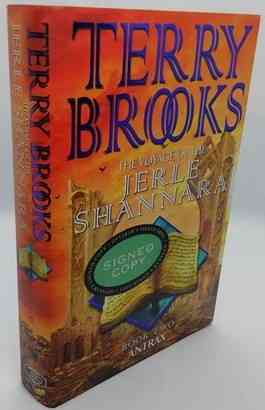 Terry Brooks ANTRAX THE VOYAGE OF THE JERLE SHANNARA First Edition Signed Bookplate