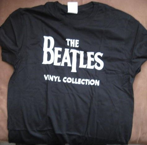 The Beatles Vinyl Collection LARGE T-SHIRT Brand New