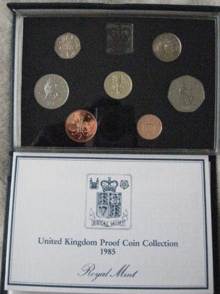 UK 1985 Set of 7 PROOF COINS