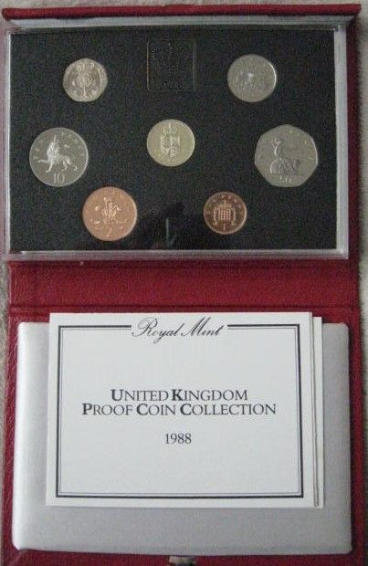 UK 1988 Set of 7 PROOF COINS