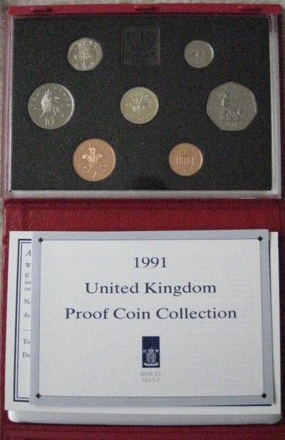 UK 1991 Set of 7 PROOF COINS