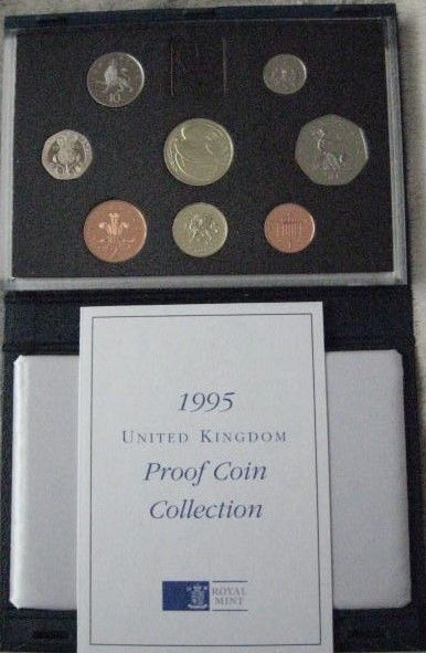 UK 1995 Set of 8 PROOF COINS