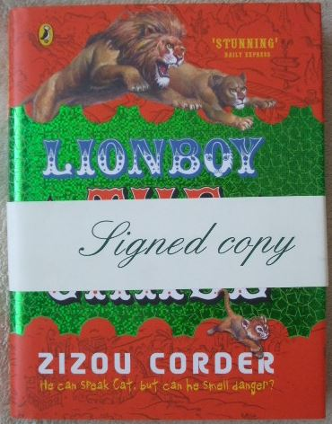 Zizou Corder LION BOY THE CHASE First Edition Signed